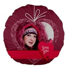 Love By Ki Ki   Large 18  Premium Round Cushion    Yb2bj297y1yl   Www Artscow Com Back