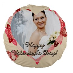 Love By Ki Ki   Large 18  Premium Round Cushion    Muu9svxtodup   Www Artscow Com Back