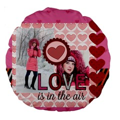 Love By Ki Ki   Large 18  Premium Round Cushion    Qrbrjcq6g60g   Www Artscow Com Back