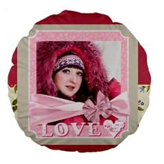 Love By Ki Ki   Large 18  Premium Round Cushion    D2o5ynme9xj7   Www Artscow Com Back