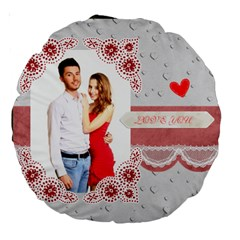Love By Ki Ki   Large 18  Premium Round Cushion    A41ncj4crr09   Www Artscow Com Front