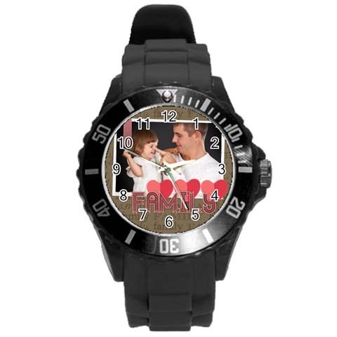 Family By Jo Jo   Round Plastic Sport Watch (l)   0uir9lotpxib   Www Artscow Com Front