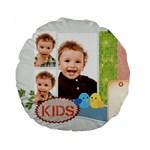 flower kids - Standard 15  Premium Round Cushion