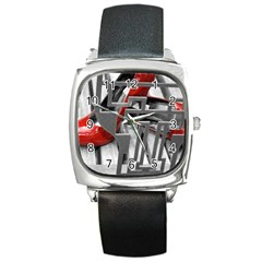 Tt Red Heels Square Leather Watch by dray6389