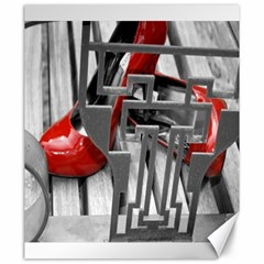 Tt Red Heels Canvas 20  X 24  (unframed) by dray6389