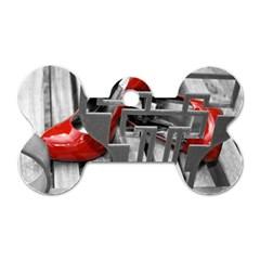 Tt Red Heels Dog Tag Bone (one Sided) by dray6389
