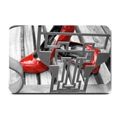 Tt Red Heels Small Door Mat by dray6389