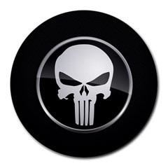 The Punisher Wallpaper  8  Mouse Pad (round) by sterlinginme