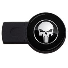 The Punisher Wallpaper  2GB USB Flash Drive (Round) by sterlinginme
