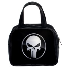 The Punisher Wallpaper  Classic Handbag (Two Sides) by sterlinginme