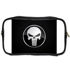 The Punisher Wallpaper  Travel Toiletry Bag (Two Sides) by sterlinginme