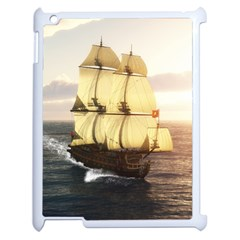 French Warship Apple Ipad 2 Case (white) by gatterwe