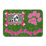 Lady dog food mat - Plate Mat