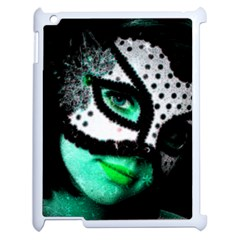 Masked Apple Ipad 2 Case (white) by dray6389