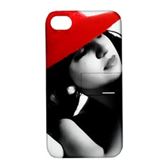Red Hat Apple Iphone 4/4s Hardshell Case With Stand by dray6389