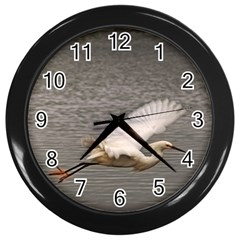 Flying Crane Wall Clock (black) by designsbyvee