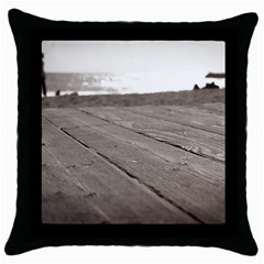Laguna Beach Walk Black Throw Pillow Case by hlehnerer