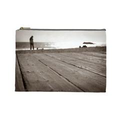 Laguna Beach Walk Cosmetic Bag (large) by hlehnerer