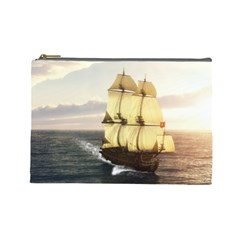 French Warship Cosmetic Bag (Large) by gatterwe