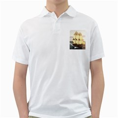 French Warship Mens  Polo Shirt (white) by gatterwe