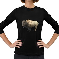 Bison Womens' Long Sleeve T Shirt (dark Colored) by gatterwe