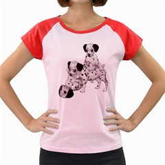 Dalmatian Puppies 1 Women s Cap Sleeve T Shirt (colored) by gatterwe