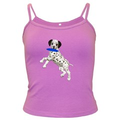 Dalmatian Puppies 3 Spaghetti Top (colored) by gatterwe