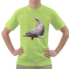 Dolphin 3 Mens  T Shirt (green) by gatterwe