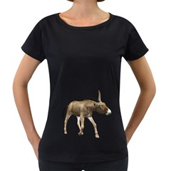 Donkey 3 Womens' Maternity T Shirt (black) by gatterwe