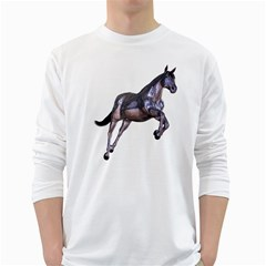 Metal Horse 1 Mens' Long Sleeve T Shirt (white) by gatterwe