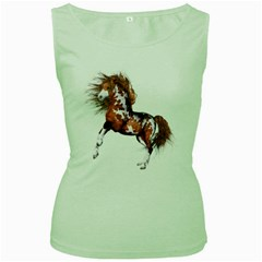 Native Horse Womens  Tank Top (green) by gatterwe