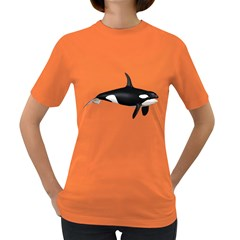 Orca 1 Womens' T Shirt (colored) by gatterwe