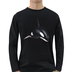 Orca Whale 3 Mens' Long Sleeve T Shirt (dark Colored) by gatterwe