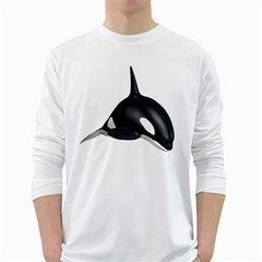 Orca Whale 3 Mens' Long Sleeve T Shirt (white) by gatterwe
