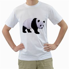 Panda Bear 2 Mens  T Shirt (white) by gatterwe