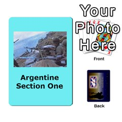 Tfl Iabsm Falklands Deck Argentine By Joe Collins   Playing Cards 54 Designs   Z9yc316d1qh6   Www Artscow Com Front - Diamond4