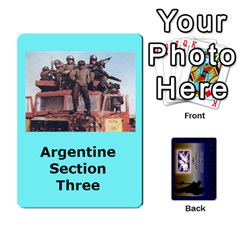 Tfl Iabsm Falklands Deck Argentine By Joe Collins   Playing Cards 54 Designs   Z9yc316d1qh6   Www Artscow Com Front - Diamond6