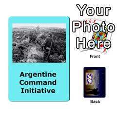 Tfl Iabsm Falklands Deck Argentine By Joe Collins   Playing Cards 54 Designs   Z9yc316d1qh6   Www Artscow Com Front - Diamond10