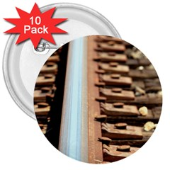 Train Track 3  Button (10 Pack) by hlehnerer
