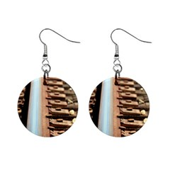 Train Track Mini Button Earrings by hlehnerer