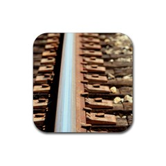 Train Track Drink Coasters 4 Pack (square) by hlehnerer