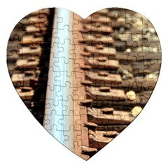 Train Track Jigsaw Puzzle (heart) by hlehnerer