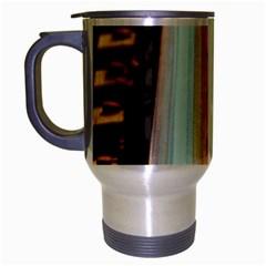 Train Track Travel Mug (silver Gray) by hlehnerer