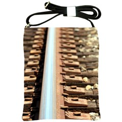 Train Track Shoulder Sling Bag by hlehnerer