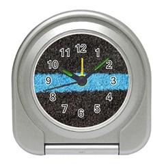 Black Blue Lawn Desk Alarm Clock by hlehnerer