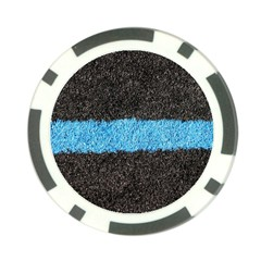 Black Blue Lawn Poker Chip by hlehnerer