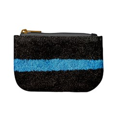 Black Blue Lawn Coin Change Purse by hlehnerer