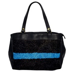 Black Blue Lawn Oversize Office Handbag (one Side) by hlehnerer