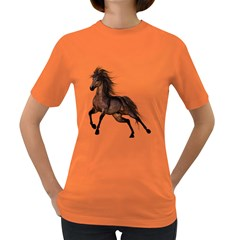 Brown Horse 1 Womens' T Shirt (colored) by gatterwe