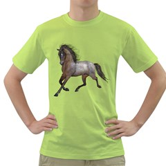 Brown Horse 2 Mens  T Shirt (green) by gatterwe